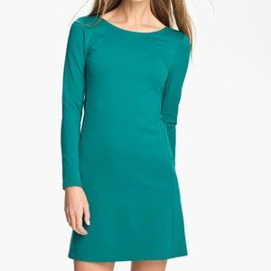 Theory Bright Teal Kalion Long Sleeve Dress Large